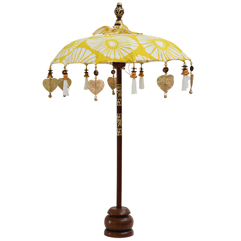 Yellow Retro Flowers Umbrella, Small
