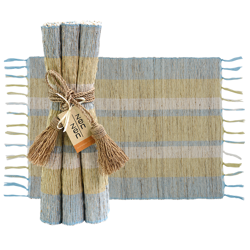 Serene Stripe Vetiver Placemat, Set of 6