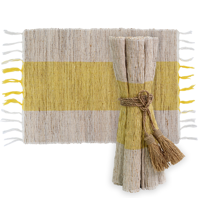 Sunshine Vetiver Placemat, Set of 6