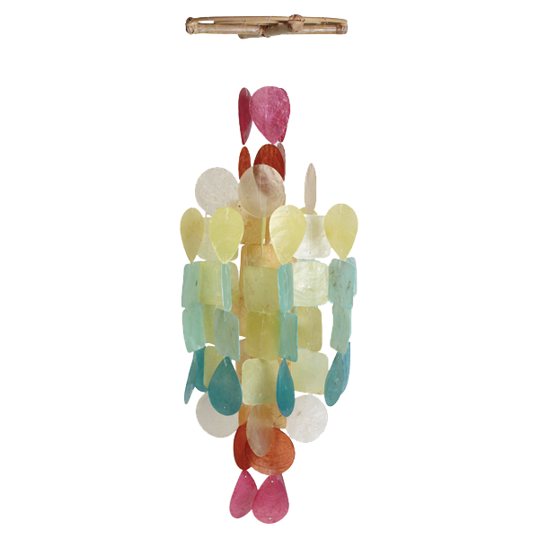 Round Fiesta Capiz Wind Chime, Medium