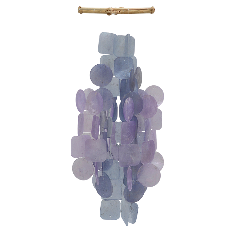 Orchid Capiz Wind Chime, Medium