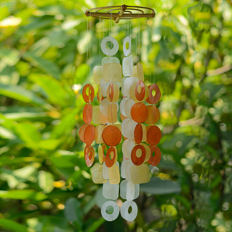 Spice Capiz Wind Chime, Medium