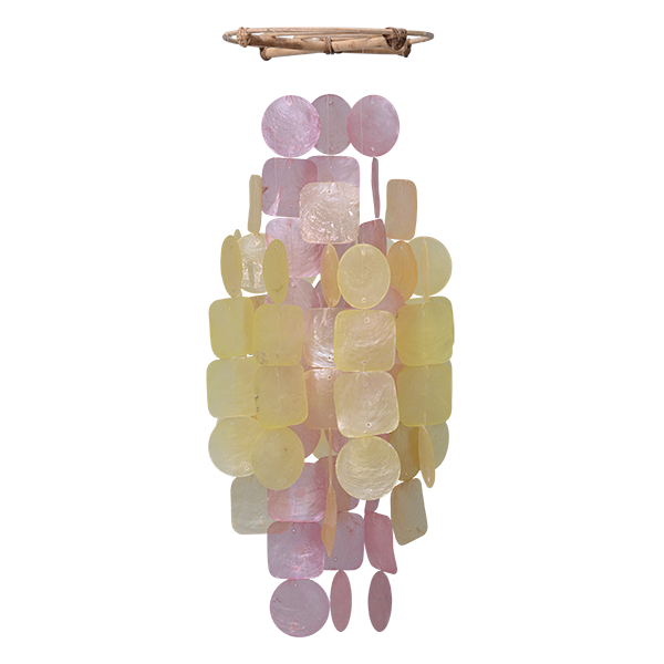 Apricot Capiz Wind Chime, Medium