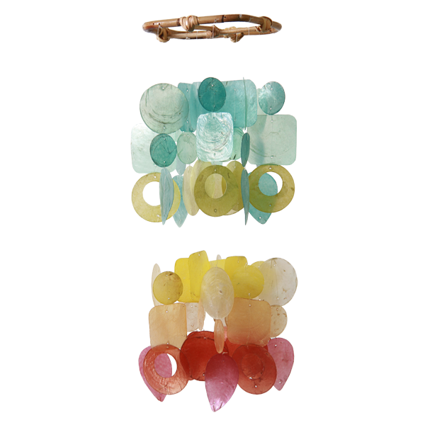 Fiesta Capiz Wind Chime, Mini