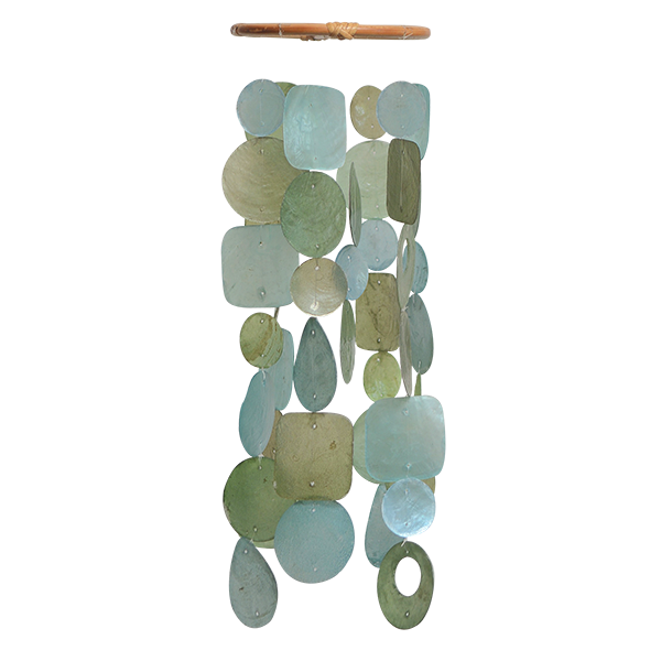 Teal Capiz Wind Chime, Small