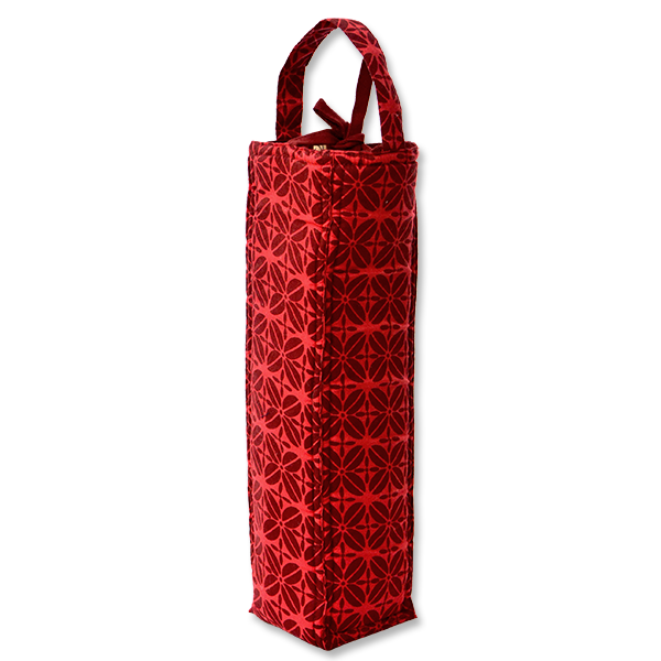 Coffee Bean Red Maroon Padded Wine Bag