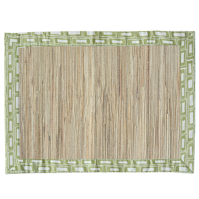 Rectangles Sage Waterllily Placemat, Set of 4