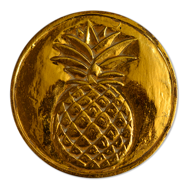 Wooden Pineapple Trivet Gold, Small