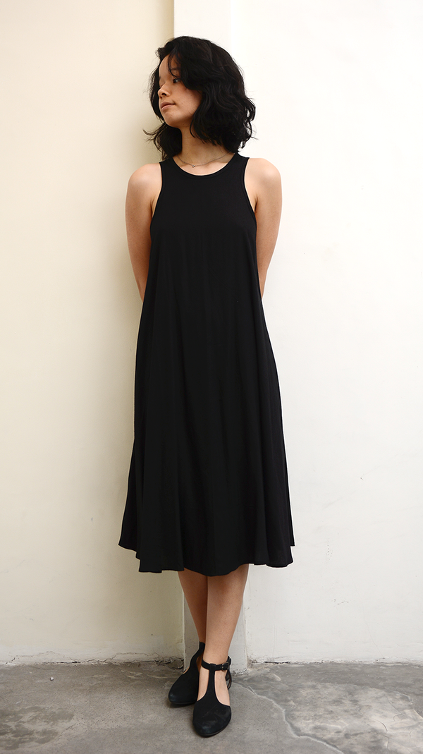 Black Swing Tank Dress, 3 sizes