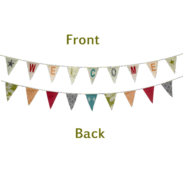WELCOME Bunting Flag Banner