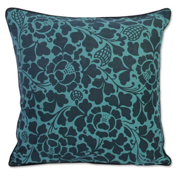 Prada Indigo Teal Cushion Cover, Medium