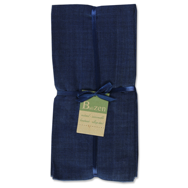 Balinese Cotton Indigo Napkins set of 4