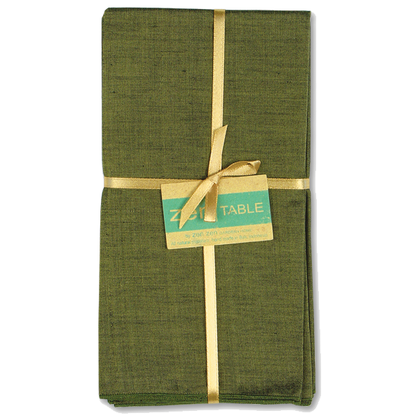Balinese Cotton Olive Napkins set of 4