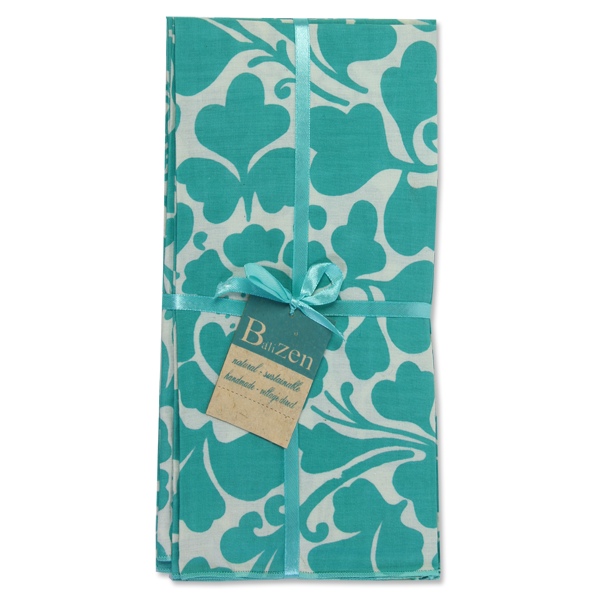 Prada Turquoise Napkins set of 4