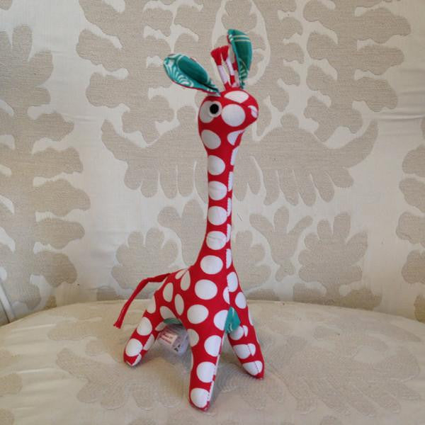 Red Scrappy Patchwork Giraffe, Baby - SALE CLOTHING & KIDS