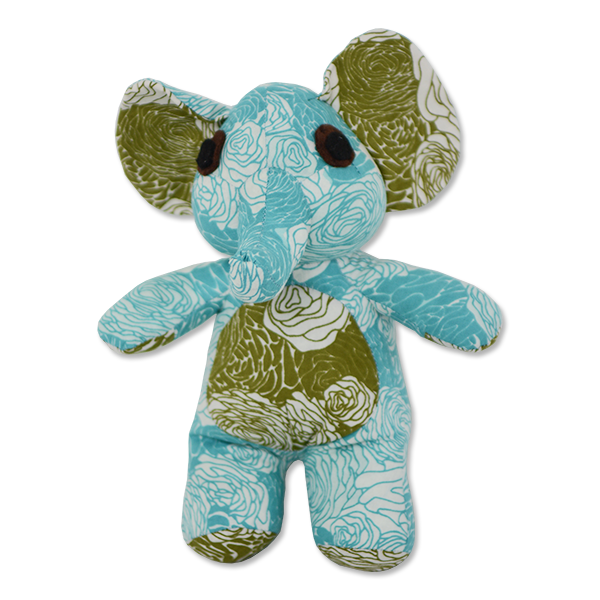 Flowers Cool Patchwork Elephant, Small