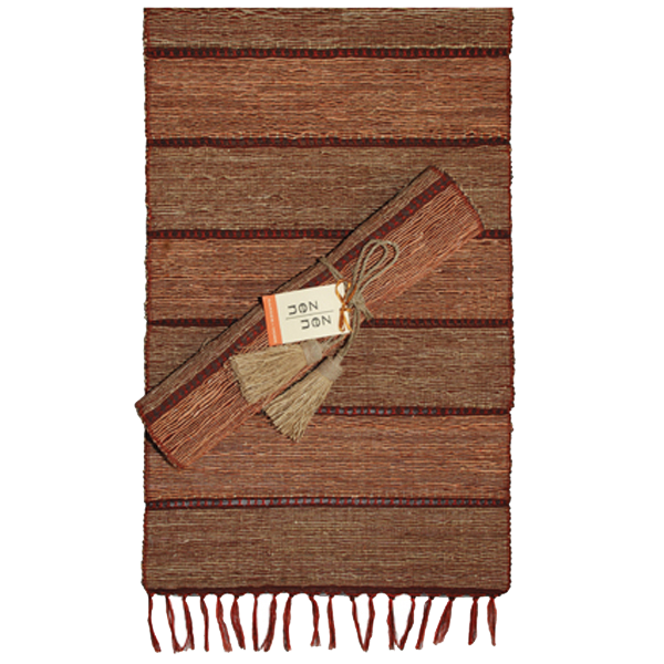 Stripes Brick Vetiver Runner