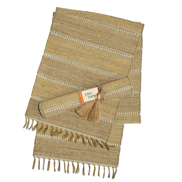 Stripes Beige Vetiver Runner