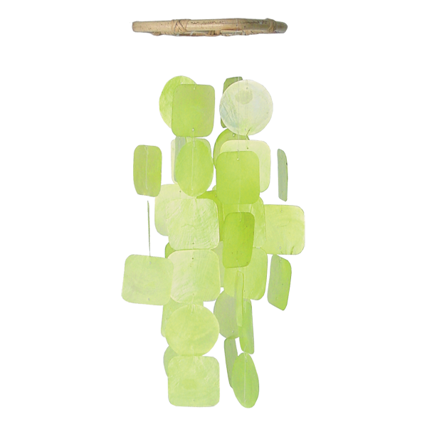 Green Capiz Wind Chime, Small