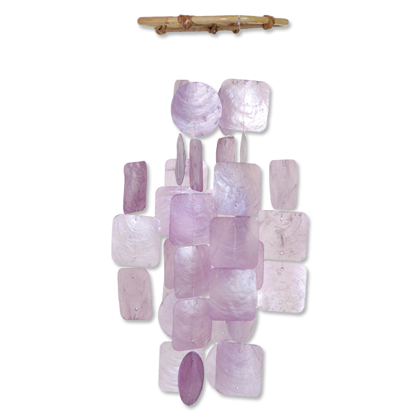 Lilac Capiz Wind Chime, Small