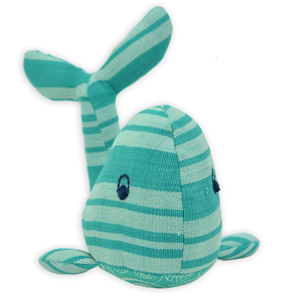 Turquoise Hand Loomed Whale, 2 Sizes