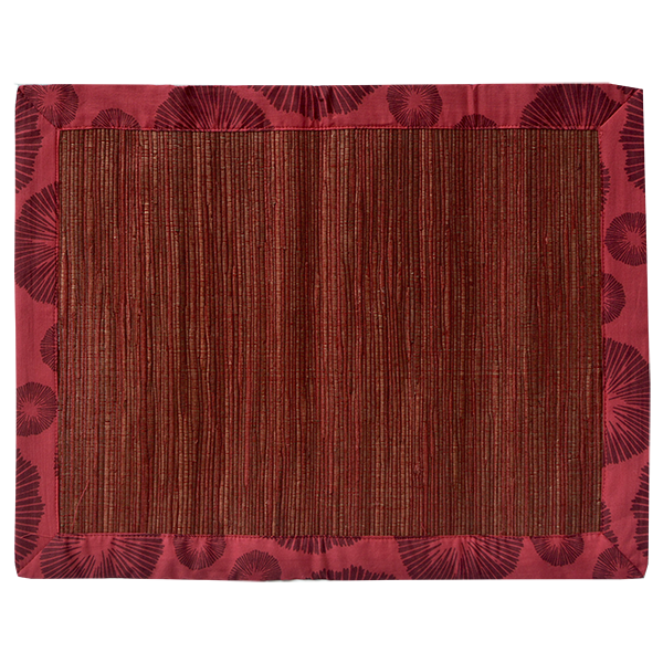 Seaflower Red Maroon Waterlily Placemat, Set of 4