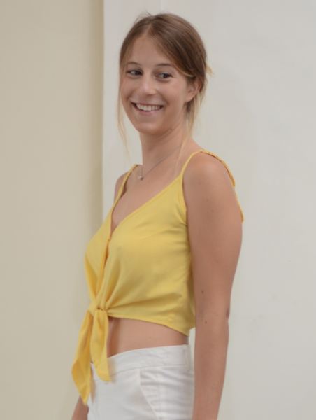 Yellow Tie Crop Top - SALE CLOTHING & KIDS