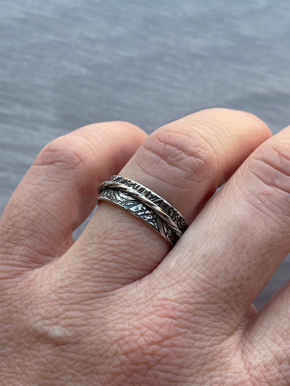 Fiddlehead Fern Patterned Spinner Ring
