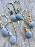 Blue Peruvian Opal Drop Earrings