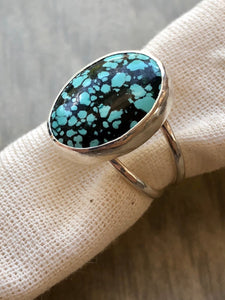 Turquoise Statement Ring on Split Band