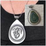Imperial Jasper and Dragon Spinner Pendant
