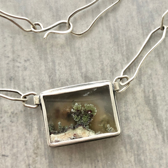 Small Landscape Moss Agate Necklace
