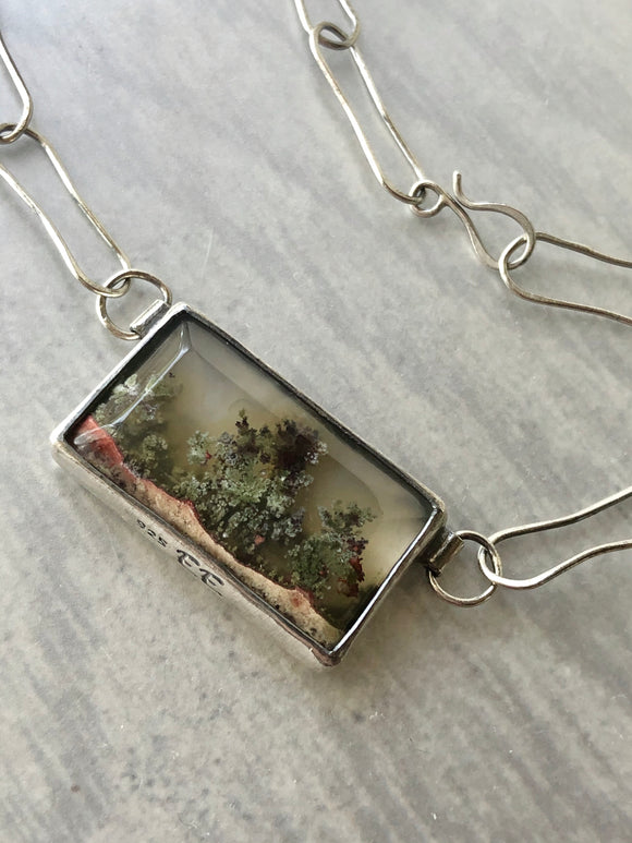 Landscape Moss Agate Necklace