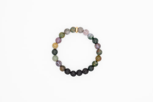 Lava stone bracelet with spacer
