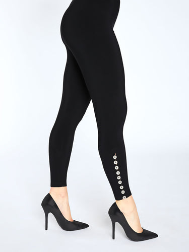 Diva legging with metal buttons