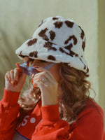 Load image into Gallery viewer, Fluffy Animal Print Bucket Hat!