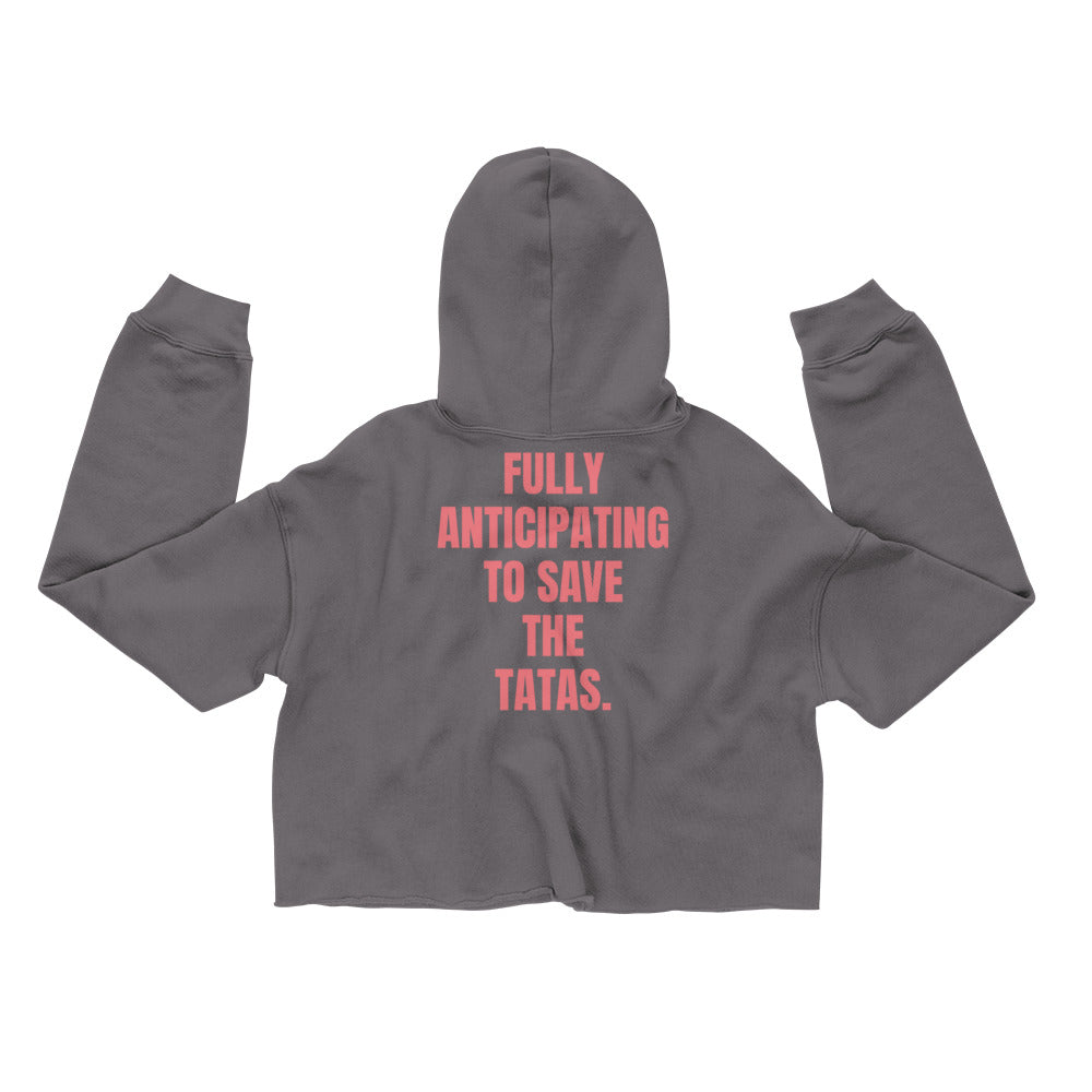 BREAST CANCER AWARENESS MONTH CROP HOODIE