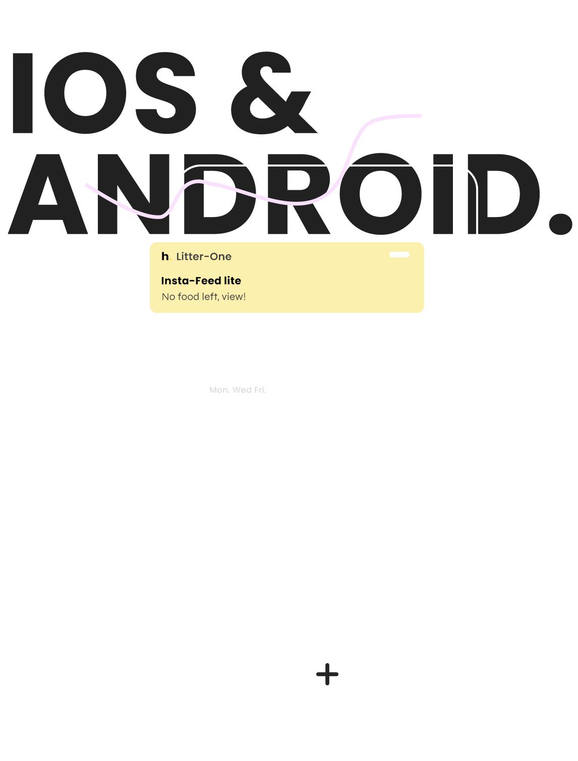 Litter-one app notifications illustraion, color grey, blue, pink, green by hello ping. App controlled, self-cleaning litter box.