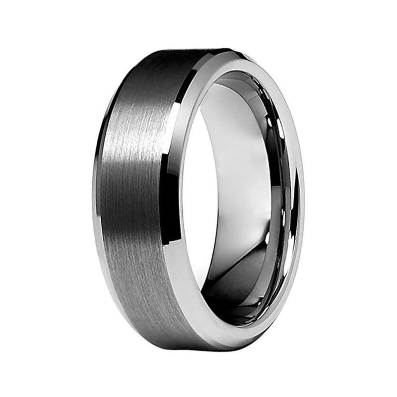 Tungston Carbide Wedding Rings.Men S Silver Tungsten Carbide Wedding Band Matte 8mm Ring For Him