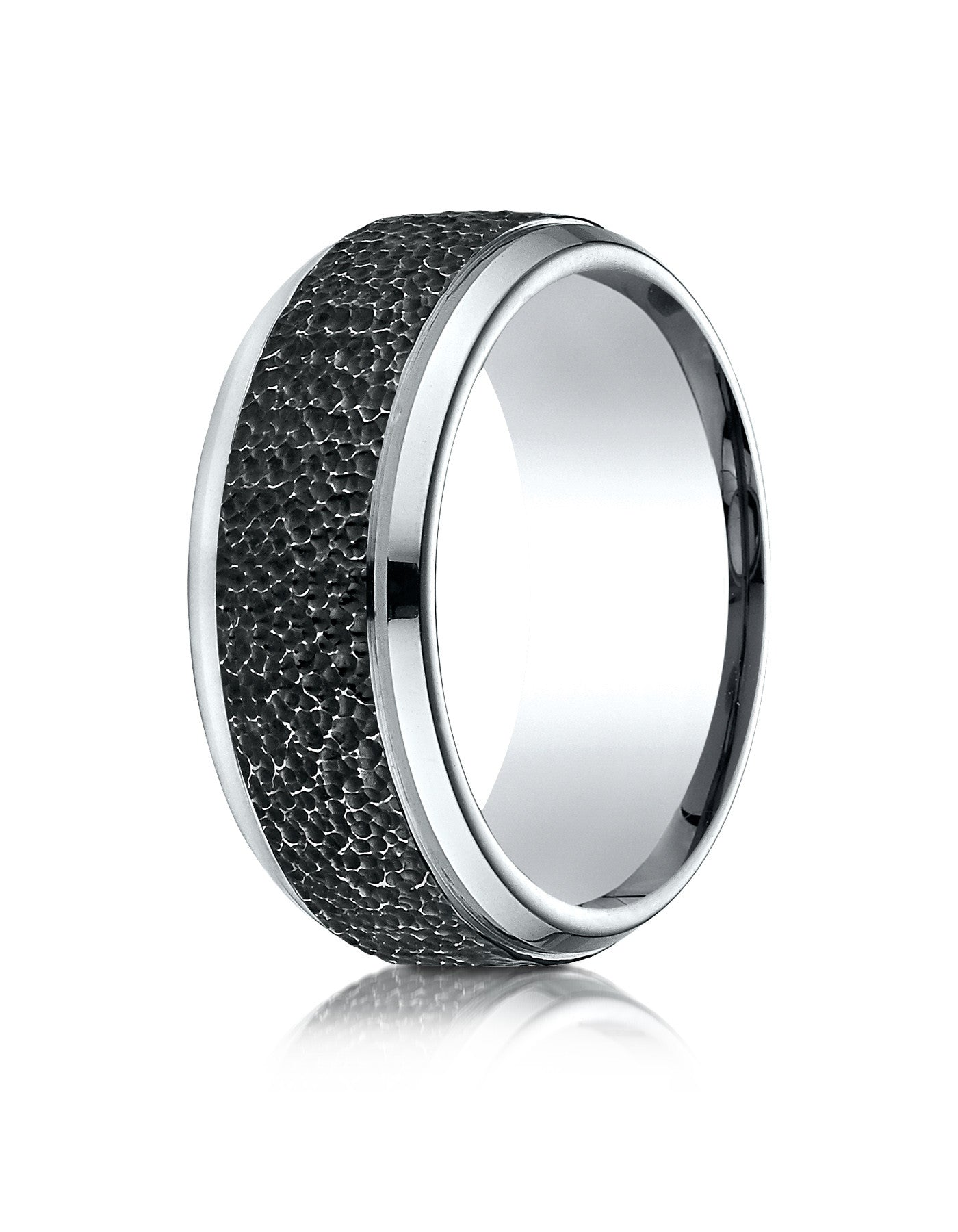 his fit black comfort wedding titanium band hers bands matching set rings classic