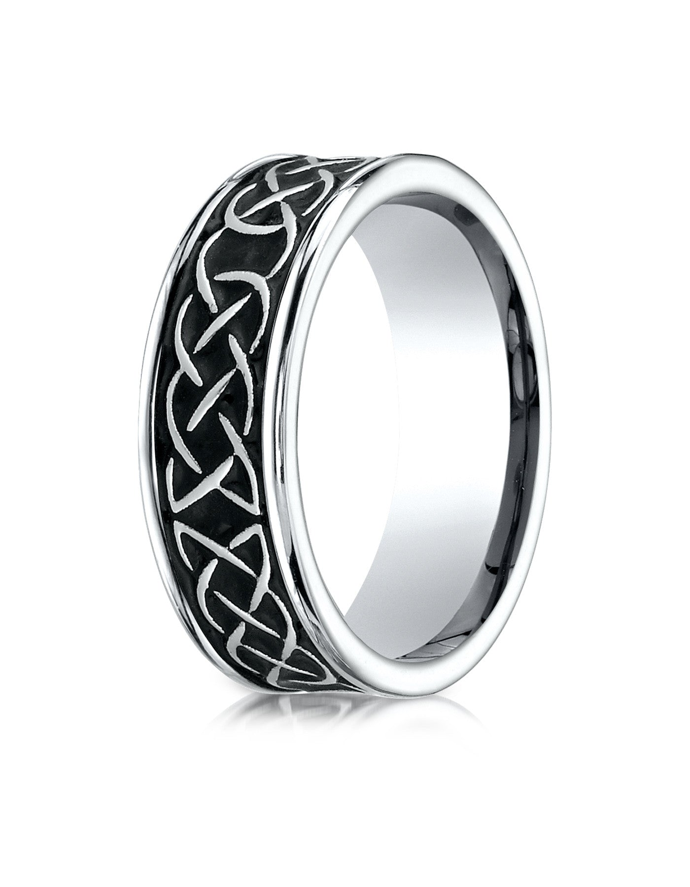 DUNDEE Cobalt Celtic Knot Wedding Band for Men by Benchmark