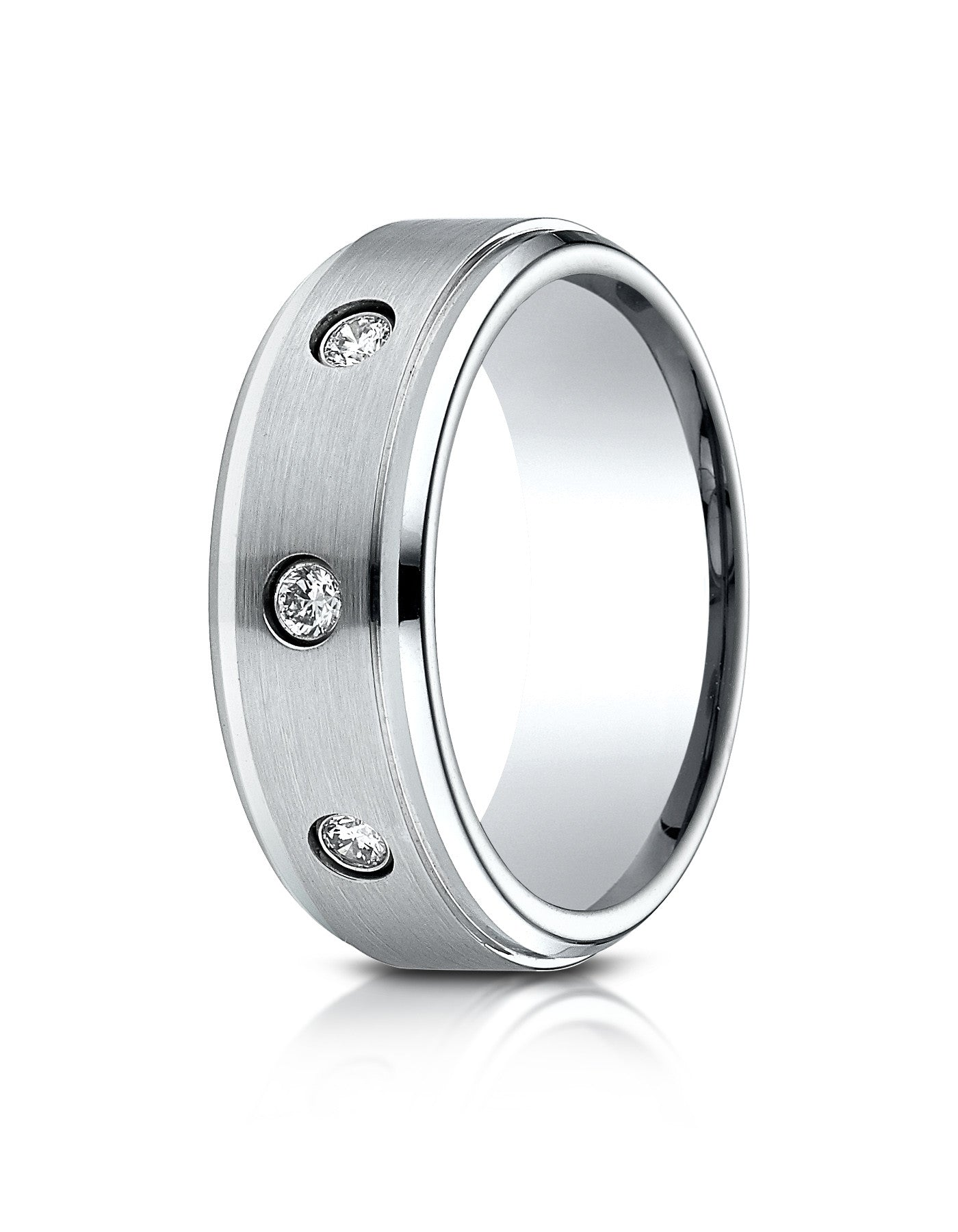 rings chrome benchmark comfort high polished design bands ring fit wedding cobaltchrome cobalt