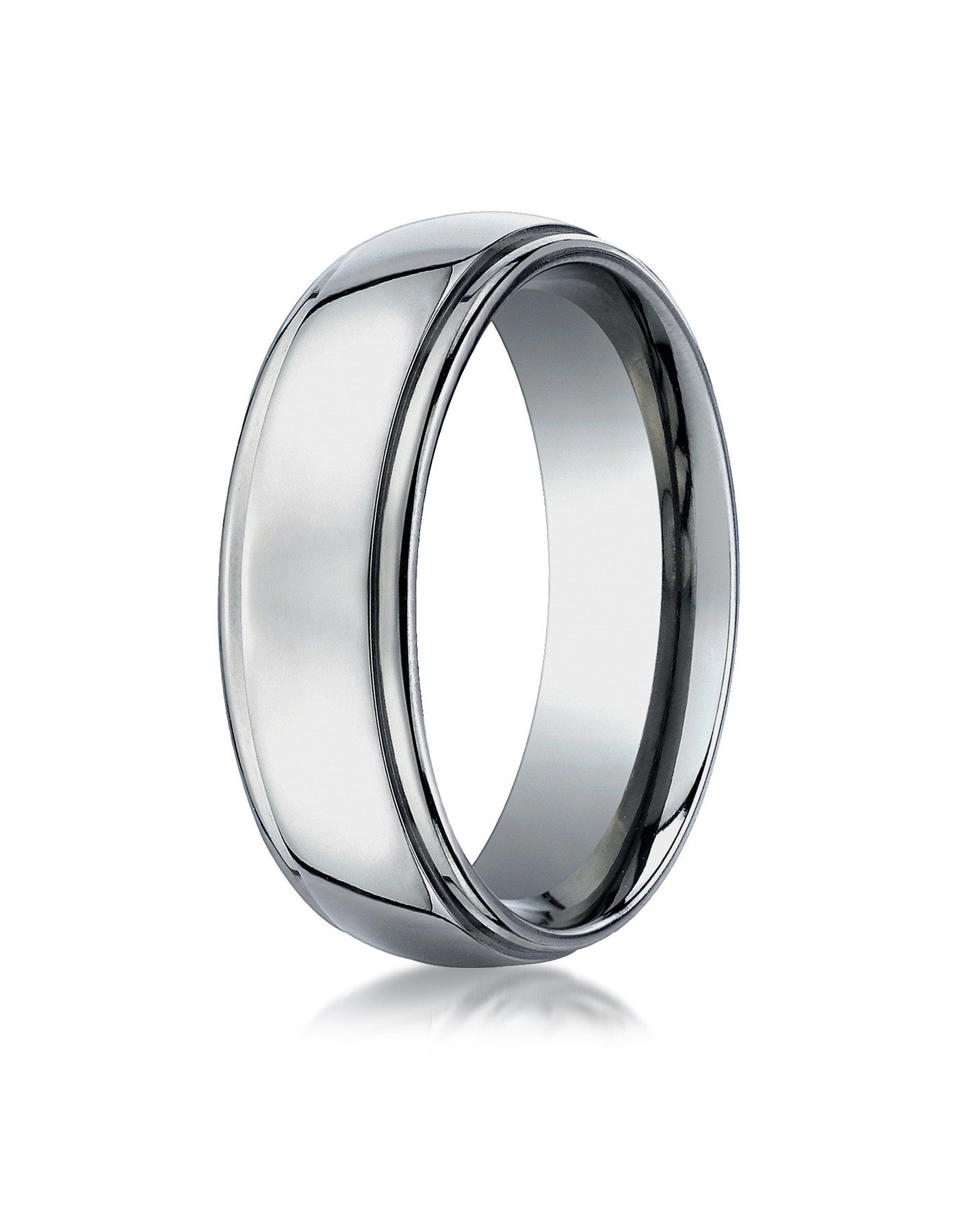 edge bands p bevelled titanium wedding au with ring mens