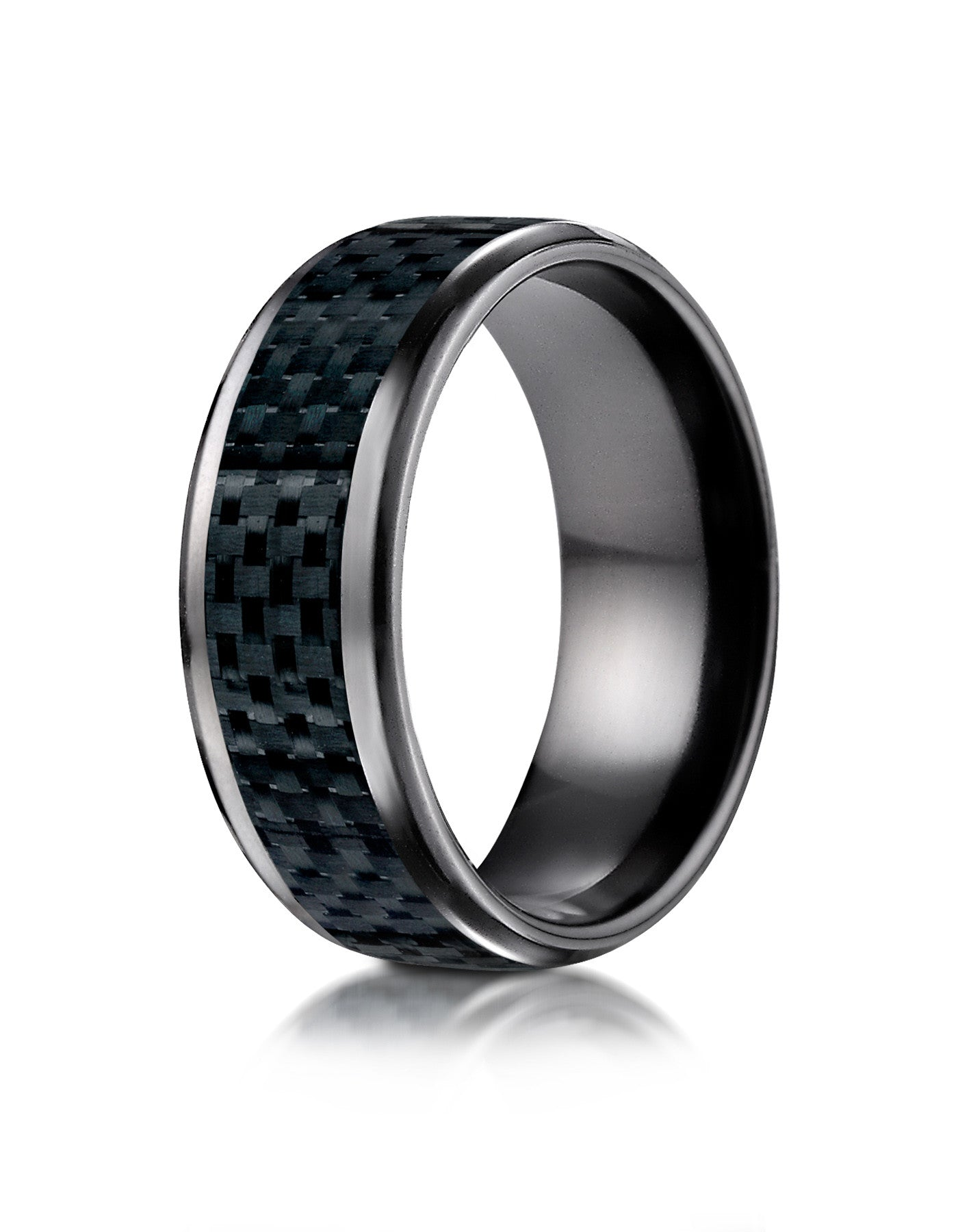 fiber rings mens band in wedding carbon tungsten