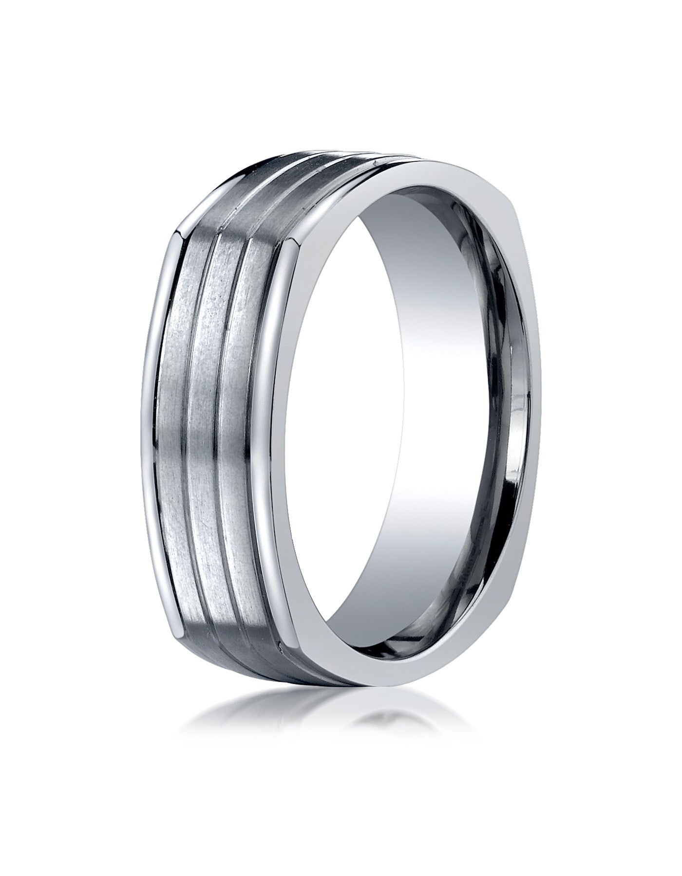 band diamond rings black mens wedding benchmark white gold product