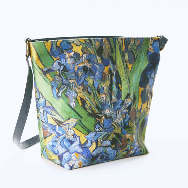 Van Gogh Olalla Gambin® Silk Irises and Leather Bag