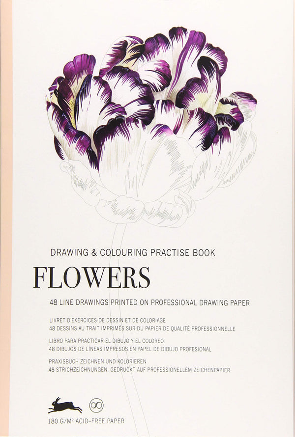 Flowers:  Drawing and Coloring Practice Book