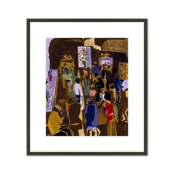 "Jacob Lawrence ""The Brown Angel"" Framed  Print"