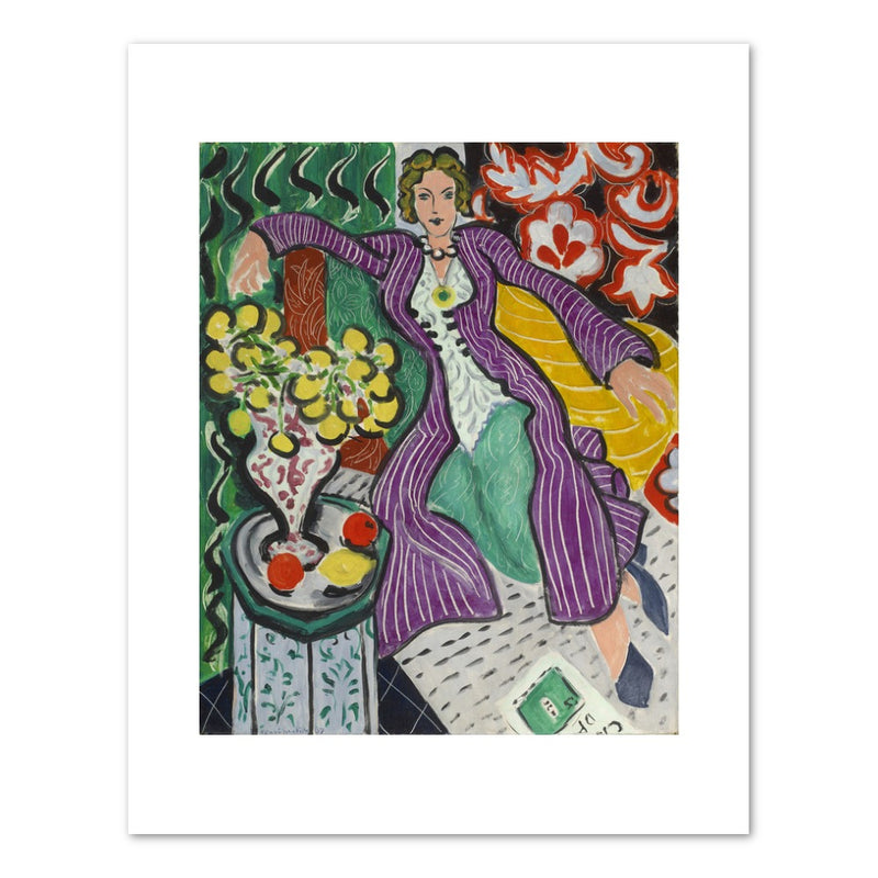 "Henri Matisse ""Woman in a Purple Coat"" Print"