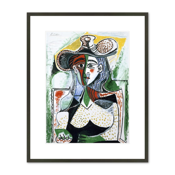 "Pablo Picasso ""Woman with a Large Hat"" Framed Print"